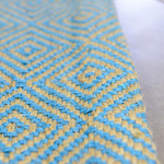 Blue Moss Diamond Geometric Patterned Rugs