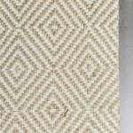Yellow Grey Diamond Geometric Patterned Rugs