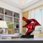 Poly Resin Abstract Red Bull Statue