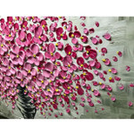 Knife Painting Pink Flower Wall Art