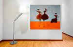 Three Ballerinas One on the wall