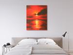 Sunrise on the wall