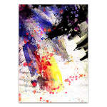 Expressive Brush Strokes Art Print