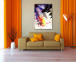 Expressive Brush Strokes Art Print on the wall