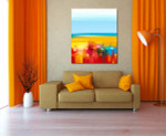 Landscape Abstract Art Print on the wall