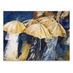 People in Umbrellas