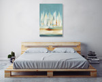 A Day to Sail II Wall Art Print, Lisa Ridgers on the wall