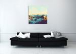 Fractal Mountain Sunset Wall Art Print, THE Studio on the wall
