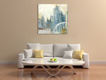 Abstract Cityscape III Wall Art Print on the wall