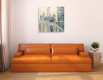 Abstract Cityscape IV Wall Art Print on the wall