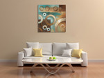 Circular Motion I Wall Art Print on the wall
