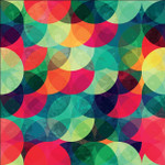 Colorful Circle Seamless Pattern Wall Art Print