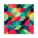 Colorful Circle Seamless Pattern Wall Art Print