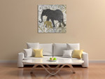 Elephants Exotiques Wall Art Print on the wall
