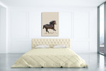 Fractal Horse Wall Art Print on the wall