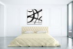 Gestural Marks I Wall Art Print on the wall