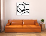 Gestural Marks IV Wall Art Print on the wall