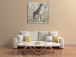 Giraffes Exotiques Wall Art Print on the wall
