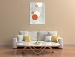 Light Grey Word Bubble Wall Art Print on the wall