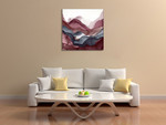 New Rose Quartz A Wall Art Print on the wall