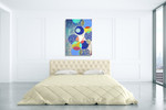 Patterned Circles I Wall Art Print on the wall
