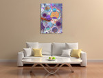 Patterned Circles III Wall Art Print on the wall