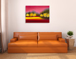 Raspberry Contemplation Wall Art Print on the wall