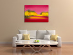 Raspberry Fantasy Wall Art Print on the wall