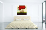 Red Solo I Wall Art Print on the wall