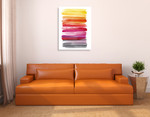 Spring Ombre Wall Art Print  on the wall