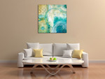 Teal Aire I Wall Art Print on the wall