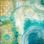 Teal Aire I Wall Art Print