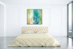 Teal Impression I Wall Art Print on the wall