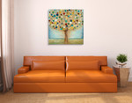 Tree Of Light Wall Art Print  on the wall