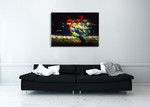 Abstract Parrot Bird Wall Art Print on the wall