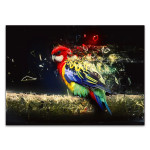 Abstract Parrot Bird Wall Art Print