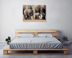 African Elephant Wall Art Print on the wall