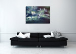 Glowing Butterflies Wall Art Print on the wall