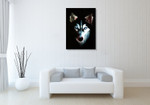 Husky Dog Wall Art Print on the wall