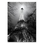 Black and White Eiffel Tower Wall Art Print