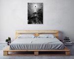 Black and White Eiffel Tower Wall Art Print on the wall