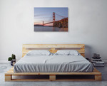 Golden Gate Span Wall Art Print on the wall