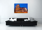 Rome Colosseum at Night Wall Art Print on the wall