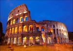 Rome Colosseum at Night Wall Art Print