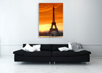 Sunset at Eiffel Tower Wall Art Print on the wall