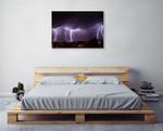 City Lightning Storm Wall Art Print on the wall