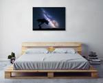 Milky Way at Night Wall Art Print on the wall