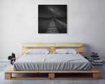 Milky Way over the Sea Wall Art Print on the wall