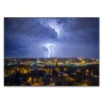 Night City Lightning Wall Art Print