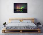 Northern Lights Aurora Borealis Wall Art Print on the wall